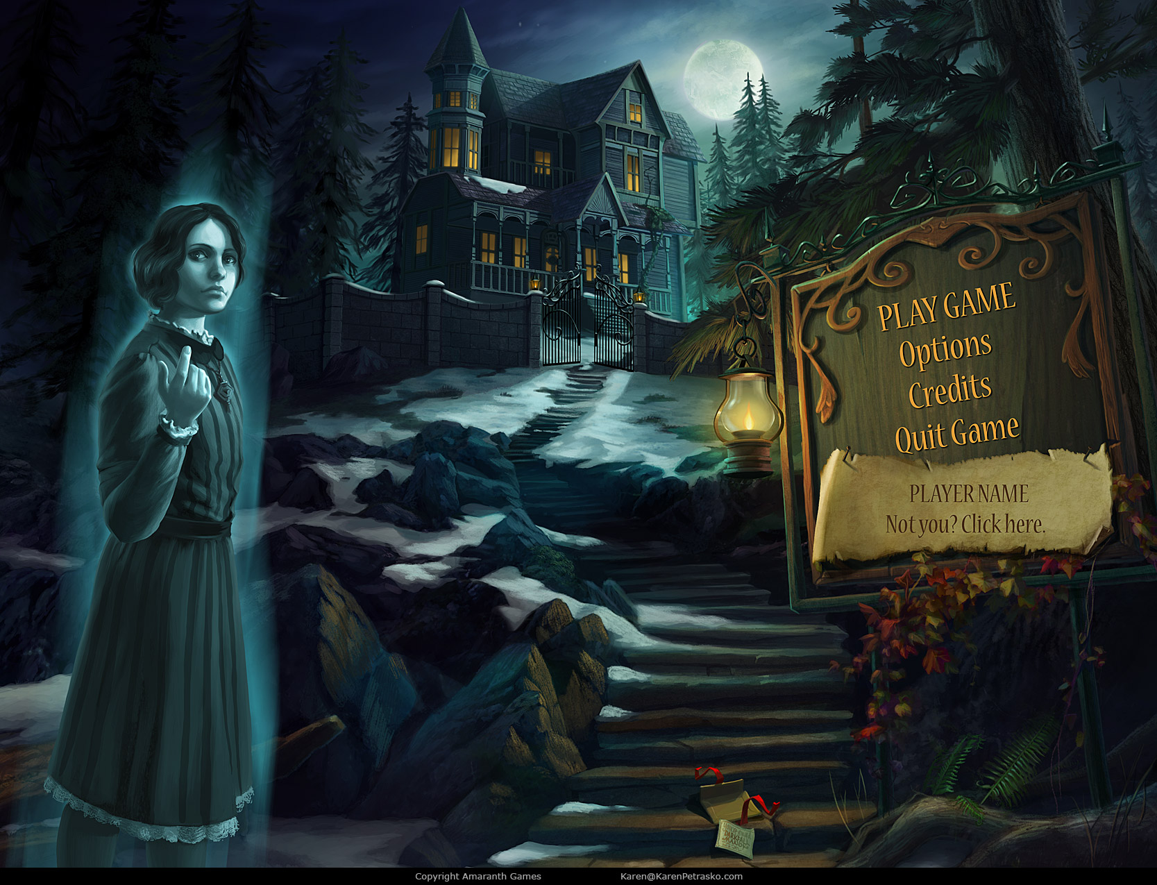 Title screen for Curse at Twilight: Thief of Souls