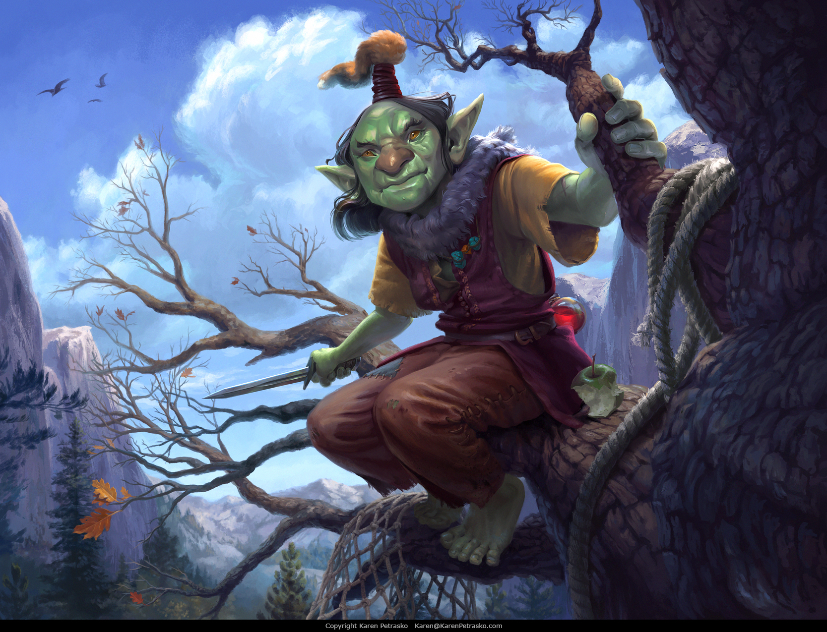 RPG art of a Goblin Scout